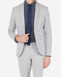 Express - Big & Tall Extra Slim Light Gray Stripe Stretch Suit Jacket Gray - Lyst