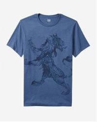 Express - Water Lion Graphic Tee - Lyst
