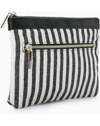 Mango - Striped Cosmetic Bag - Lyst