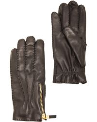 Alexander McQueen Leather Gloves - Lyst