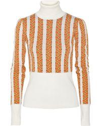 Duro Olowu - Jacquard-Knit Wool Turtleneck Sweater - Lyst