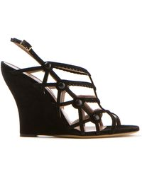 Tabitha Simmons Wedge Heels Sandals - Lyst