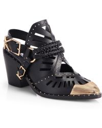 Ivy Kirzhner Aguila Leather Embellished Ankle Boots - Lyst