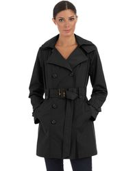 Jones New York Belted Trench Coat - Lyst