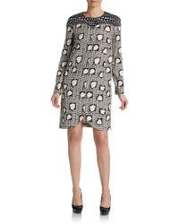 Stella McCartney Silk Heart-print Shift Dress - Lyst