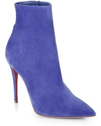Christian Louboutin So Kate Suede Booties - Lyst