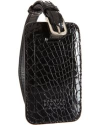 Barneys New York - Crocodile Luggage Tag - Lyst