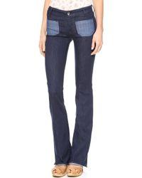 Seafarer Calypso Flare Jeans Dark - Lyst