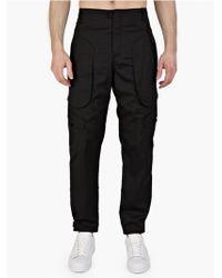 Alexander Wang Men'S Black Exposed Cargo Trousers - Lyst