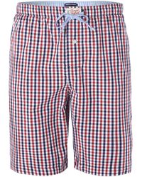 Tommy Hilfiger Gingham Print Sleep Short - Lyst
