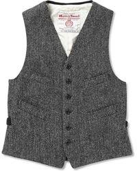 Beams Plus Harris Tweed Waistcoat - Lyst