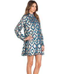 Anna Sui Aztec Foulard Print Mini Dress - Lyst