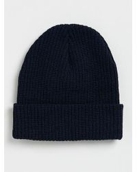 LAC - Navy And Bk Beanie - Lyst