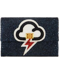 Anya Hindmarch Valorie Lightning Glitter Clutch Bag - Lyst