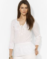 Ralph Lauren Lauren Long Sleeve Shirt - Lyst