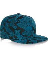 House Of Holland New Era Flocked Cottontwill Baseball Cap - Lyst