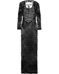 Sibling - - Metallic Crocheted Maxi Dress - Black - Lyst
