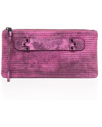 She + Lo - Next Chapter Perforated Leather Clutch - Lyst