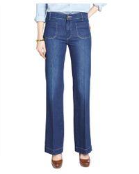 MiH Jeans Halley Blue Stretch Denim 'Milan' Flared Jeans - Lyst