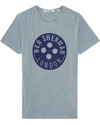 Ben Sherman Button Logo Tshirt - Lyst