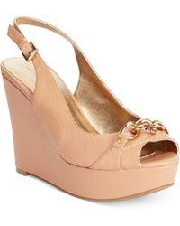 Tommy Hilfiger Women'S Mercedi Platform Wedge Sandals - Lyst