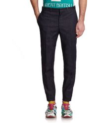 Burberry Prorsum Denim Carrot-Leg Trousers - Lyst