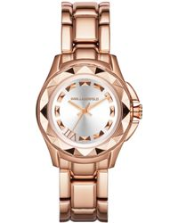 Karl Lagerfeld Unisex Karl 7 Rose Gold Ionplated Stainless Steel Bracelet Watch 36mm - Lyst