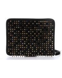 Christian Louboutin Black Leather 'Cris' Spiked Tablet Case - Lyst
