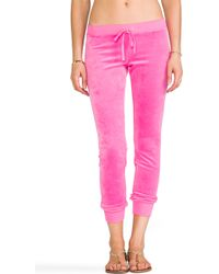 Juicy Couture - J Bling Slim Comfy Pant in Pink - Lyst