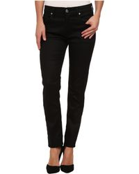 7 For All Mankind Relaxed Skinny in Slick Black - Lyst
