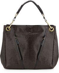Oryany Bette Anaconda-Embossed Shoulder Bag - Lyst