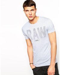 G-star Raw G Star Tshirt Terrams Rib Raw Logo - Lyst