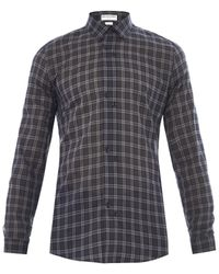 Balenciaga Windowpanecheck Cotton Shirt - Lyst