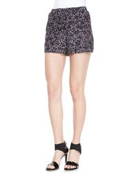 Rebecca Taylor Silk Leopardprint Shorts - Lyst