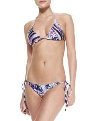 We Are Handsome Tiger/Floral Print String Bikini Two-Piece - Lyst