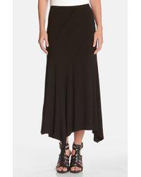 Karen Kane Spiral Seam Stretch Knit Maxi Skirt - Lyst