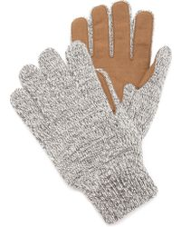 Bickley + Mitchell - Faux Leather Detail Glove - Lyst