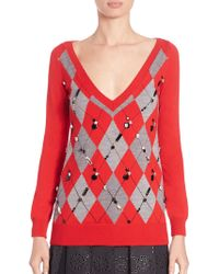 Marc Jacobs | Embellished Agryle Sweater | Lyst