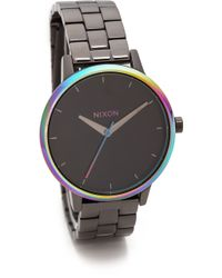 Nixon Kensington Watch  Gunmetalrose Gold - Lyst