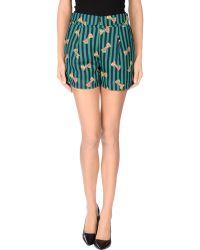 Cutie Green Shorts - Lyst