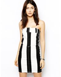 Cheap Monday Striped Bandeau Dress - Lyst