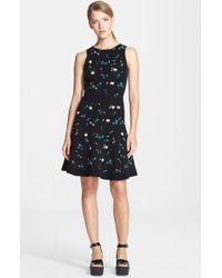 Opening Ceremony Petal Jacquard Knit Fit & Flare Dress - Lyst
