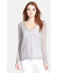 J Brand 'Berendo' V-Neck Sweater - Lyst
