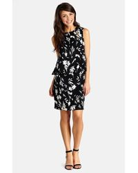 Donna Morgan Floral Print Popover Dress - Lyst