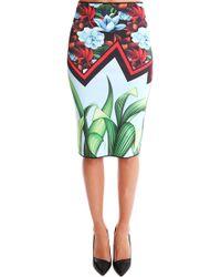 Clover Canyon   Broken Bloom Reversible Pencil Skirt   Lyst