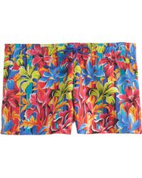J.Crew | red Sunset Floral Board Short | Lyst