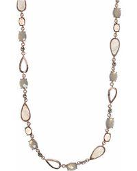 Anne Klein - Rose Crystal Robe Necklace - Lyst