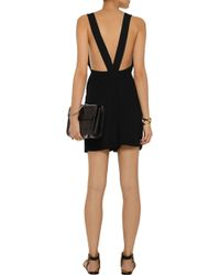 Sandro Plume Textured-Knit Playsuit - Lyst