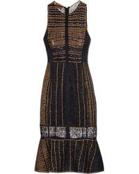 Missoni Knee-Length Dress black - Lyst