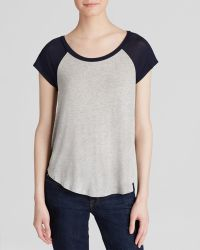 Splendid Draped Luxe Baseball Tee - Bloomingdale'S Exclusive - Lyst